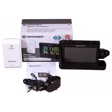 Метеостанция проекционная Bresser с цветным дисплеем, черная