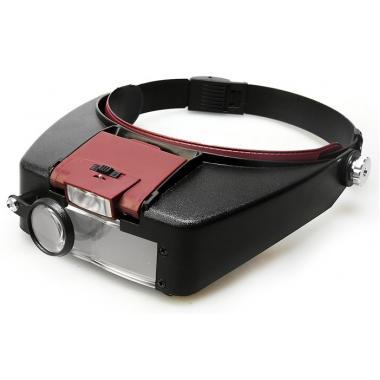 Лупа Kromatech налобная 1,5/3,0/8,5/10,0x, с подсветкой (2 LED) MG81007-A