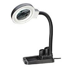 Лупа-лампа Kromatech бестеневая 2/20x, 85 мм, с подставкой для ручек и подсветкой (40 LED)