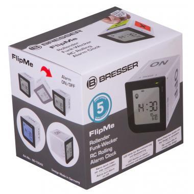 Часы настольные Bresser FlipMe Alarm Clock, серебристые