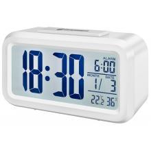 Часы настольные Bresser MyTime Duo LCD, белые