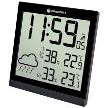 Метеостанция (настенные часы) Bresser TemeoTrend JC LCD с радиоуправлением, черная Q19