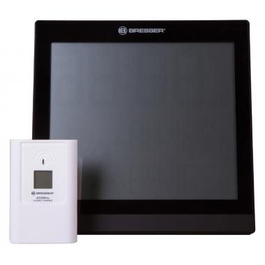 Метеостанция (настенные часы) Bresser TemeoTrend JC LCD с радиоуправлением, черная