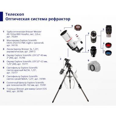 """Светофильтр Explore Scientific светло-красный №23A, 1,25"""""""