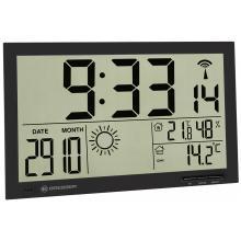 Метеостанция (настенные часы) Bresser MyTime Jumbo LCD, черная Q8