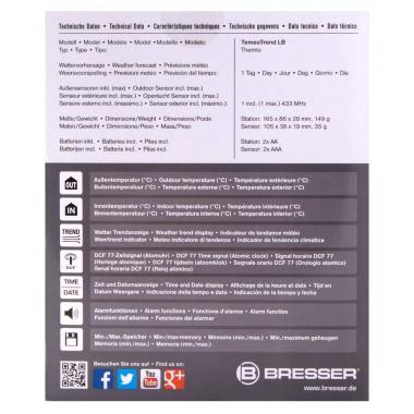 Метеостанция Bresser TemeoTrend LB с радиоуправлением
