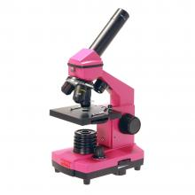 Микроскоп школьный Эврика 40х-400х в кейсе (фуксия) Q20