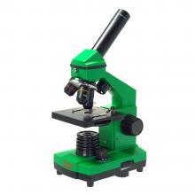 Микроскоп школьный Эврика 40х-400х в кейсе (лайм) Q20