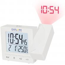 Часы цифровые Explore Scientific с проектором и термометром, белые Q2
