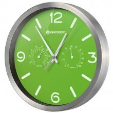 Часы настенные Bresser MyTime ND DCF Thermo/Hygro, 25 см, зеленые Q5