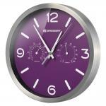 Часы настенные Bresser MyTime ND DCF Thermo/Hygro, 25 см, фиолетовые