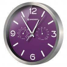 Часы настенные Bresser MyTime ND DCF Thermo/Hygro, 25 см, фиолетовые Q7