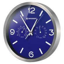 Часы настенные Bresser MyTime ND DCF Thermo/Hygro, 25 см, синие Q7